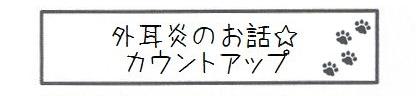 外耳炎のお話☆カウントアップ-0