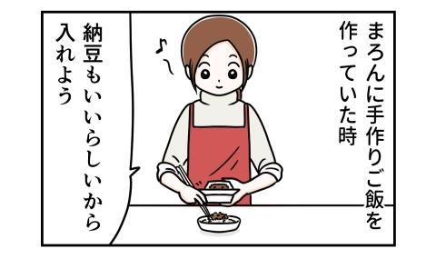 愛犬に手作りご飯を作っていた時 納豆もいいらしいから入れよう