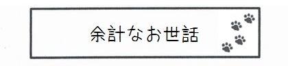 余計なお世話-0