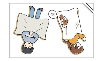 床暖房の上でごろ寝する夫と私と犬。私の毛布の上で寝る犬