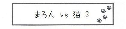 まろん vs 猫 3-0