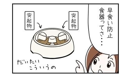 早食い防止食器ってさ…。お皿の内側に突起物がいくつかついている器