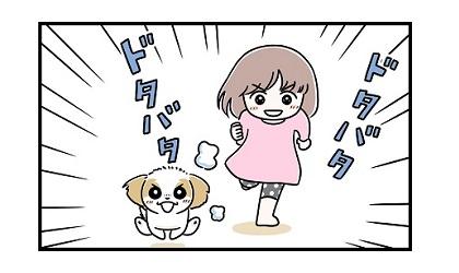 全力遊びe 4コマ犬漫画 ぷりんちゃんねる