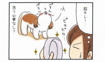 「食器を洗う(?)犬」-4