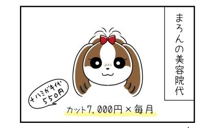 犬の美容院代:カット7,000円(+歯磨き代550円)×毎月