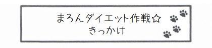 まろんダイエット作戦☆きっかけ-0
