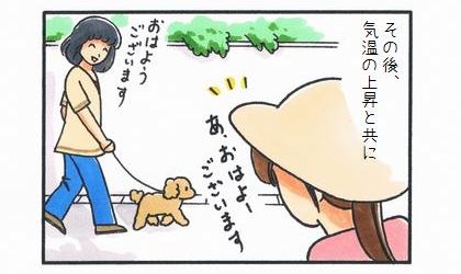 愛犬家たちの早朝散歩-2