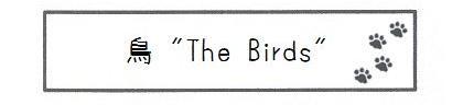 """鳥 """"The Birds""""-0"""