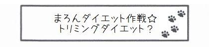まろんダイエット作戦☆トリミングダイエット?-0