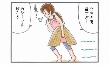 敷物1番乗り -竹シーツ編--1