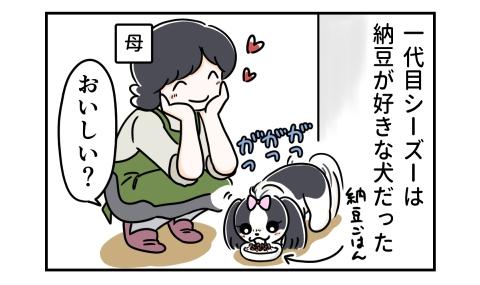 一代目シーズーは納豆が好きな犬だった。納豆ごはんを食べる犬